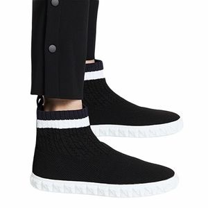 Stuart Weitzman Coverall Knit Pull On Sneakers